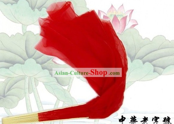 61 Inches Long Chinese Traditional Silk Mu Lan Kung Fu Dance Fan (red)
