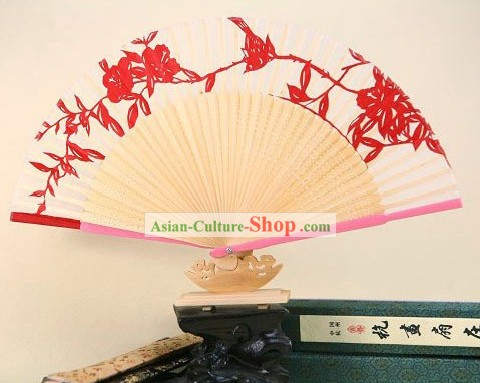 Tradiitional Papercut Silk Soft Fan