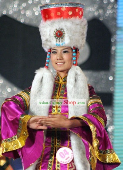 Mongolia Classic Princess Costumes and Hat