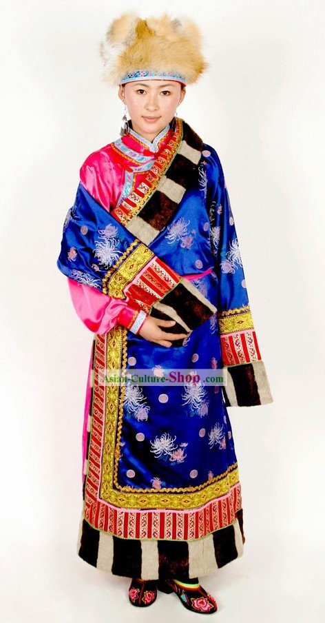 Chinese Traditional Minority Happy Celebration Dance Costumes