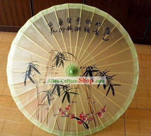 Chinese Hand Made Bamboo Dance Umbrella