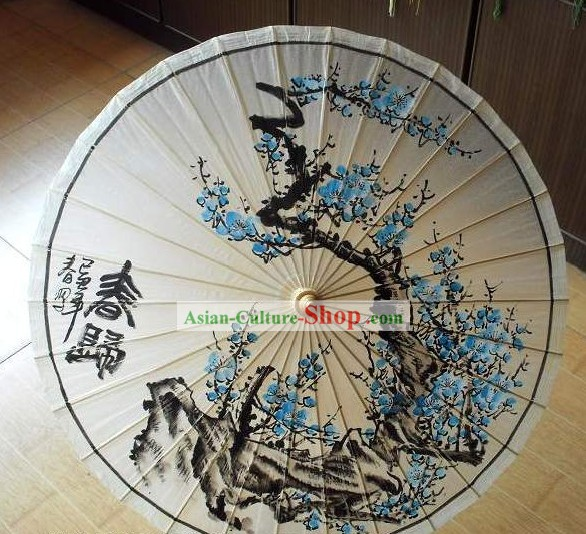 Chinese Classic Plum Blossom Painting Umbrella