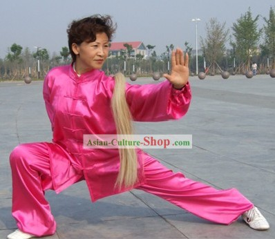 Chinese Professional Flashing Martial Arts and Tai Chi Suit (pink)