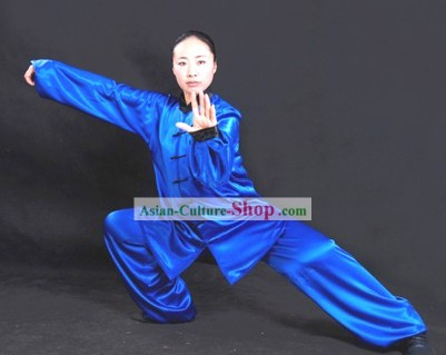 Chinese Professional Martial Arts Tai Chi Uniform Complete Set for Women