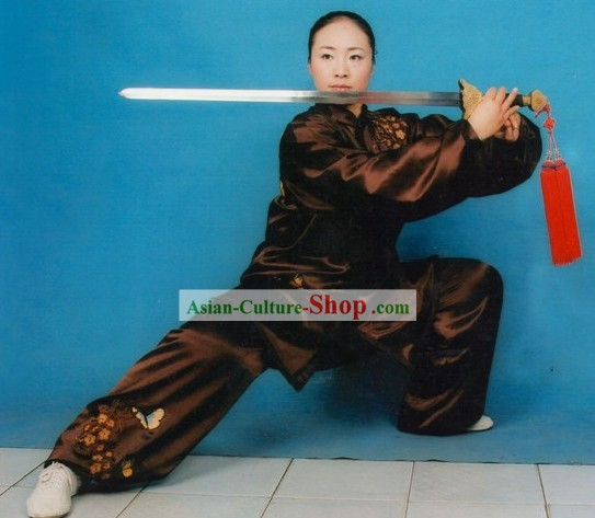 Chinese Traditional Mulan Quan Kung Fu Practice Uniform for Women