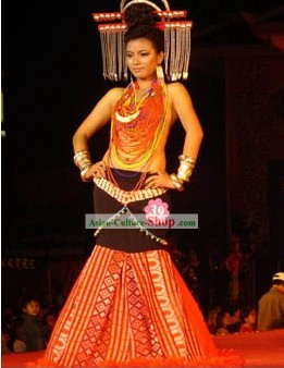 Chinese Minority Dance Costume Complete Set