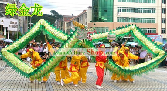 Happy Festival Celebration Chinese Shinning Dragon Dance Costumes Complete Set
