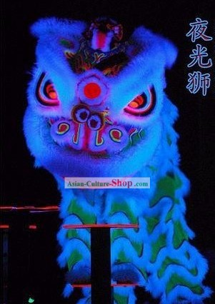 Happy Festival Celebration Fluorescent Luminous Lion Dance Set (18 colors available glow in dark)