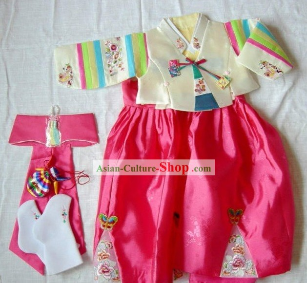 Traditional Korean Dress for Baby to Celebrate One Full Year of Life