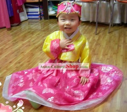Ancient Korean Baby Girl Handbok to Celebrate One Full Year of Life