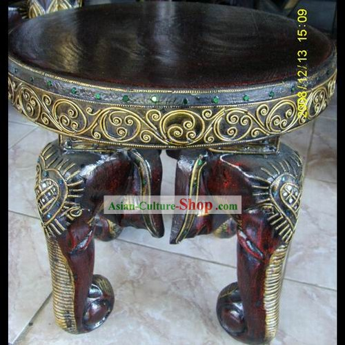 Traditional Asia Thai Hardwood Stool