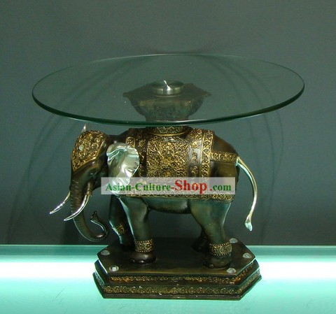 Traditional Asia Thai Elephant Desk