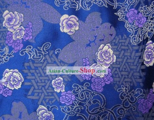 Chinese Traditional Silk Flower Fabric