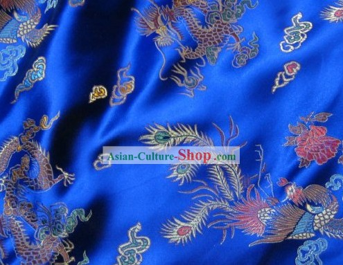 Traditional Dragon and Phoenix Chinese Brocade Fabrics