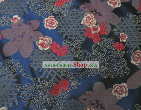Traditional Flower Silk Fabric