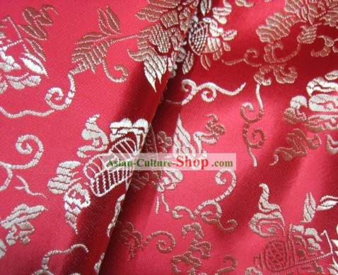 Fairy Fan Silk Red Fabric