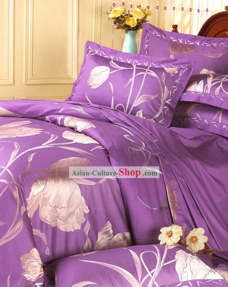 Traditional Chinese Wedding Bed Sheets Set