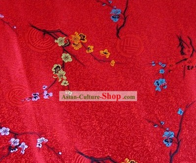 Plum Blossom Brocade Fabric