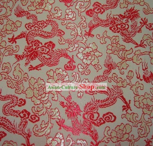 Traditional Dragon Brocade Fabric