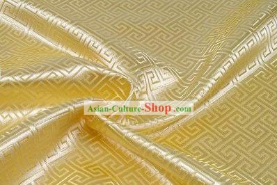 Light Yellow Vein Brocade Fabric