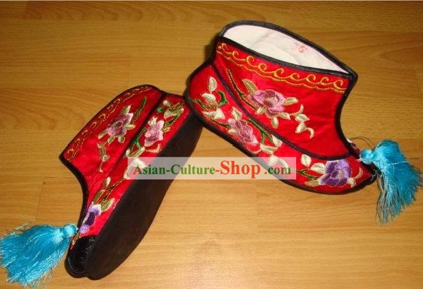 Chinese Embroidery Shoes/Handmade Red Shoes