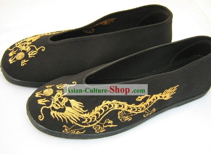 Embroidered Dragon Dance Shoes