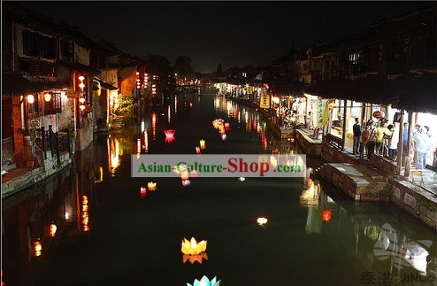 Water Floating Lantern/Paper Lantern/Lotus Lantern/Making A Wish Lantern