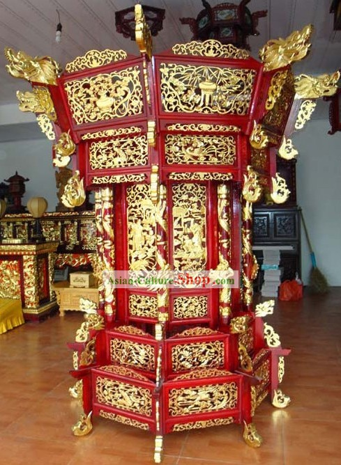 79 Inch Giant Glazed Five Layers of Palace Lantern