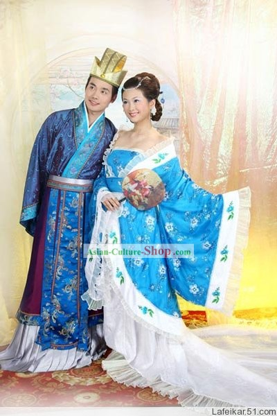 Chinese Ancient Wedding Anniversary Dresses 2 Complete Sets
