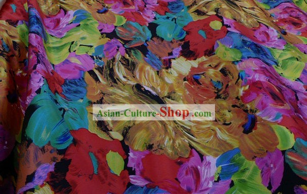 100% Silk Fabric - Colourful World