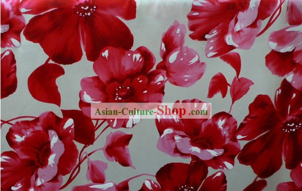 Flowery Pure Silk Chiffon Fabric