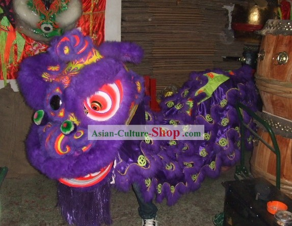 Fluorescent Luminous Happy Festival Celebration Lion Dance Equipment Complete Set