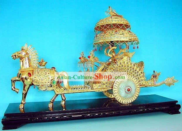 Super Large Chinese Cloisonne Emperor Cart