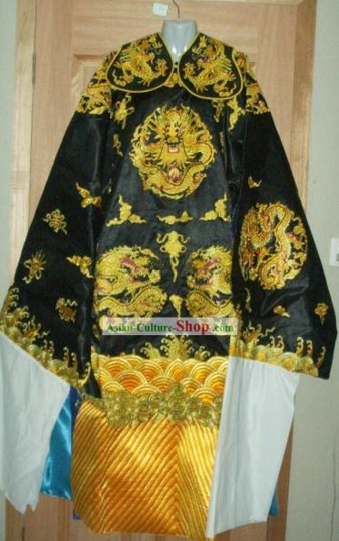 Chinese Traditional Belt Judge Bao Gong Golden Dragon Costumes