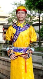 Chinese Ancient Qing Dynasty Costume Complete Set