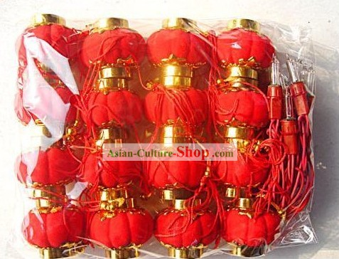 Traditional Chinese Lucky Red Lantern 16 Pieces Set/Miniature Lanterns
