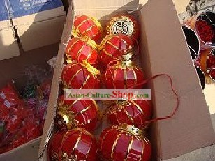 Traditional Chinese Happy Celebration Lucky Red Lantern Five Pieces Set