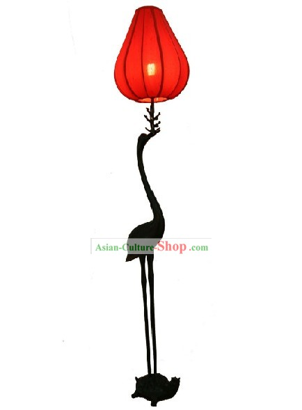Traditional Chinese Handmade Large Crane and Tortoise Floor Lantern
