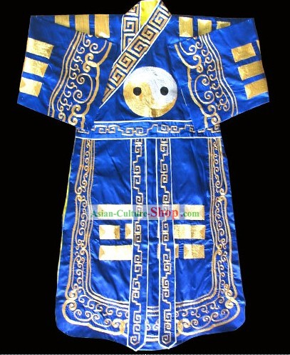 Chinese Traditional Embroidered Taoist Eight Diagrams Robe and Hat Complete Set