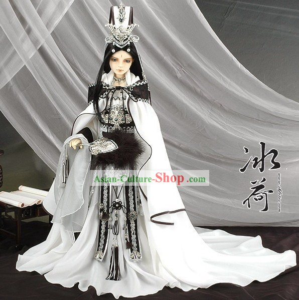 China Ancient Prince Clothing and Hat Full Set