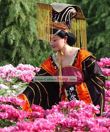 Supreme Chinese Ancient Emperor Clothing Complete Set for Women