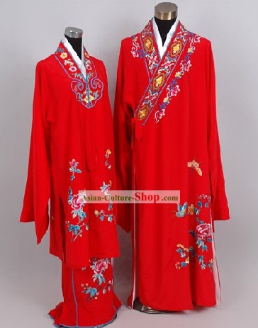 Chinese Classical Liang Zhu (Butterfly Lovers) Costumes and Hat for Men and Women