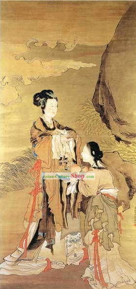 Chinese Film and Stage Performance and Photo Studio Traditional Painting Prop - Ancient People