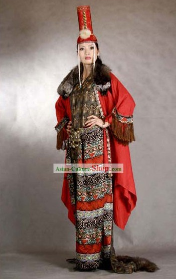 China Minority Traditional Clothing and Hat Complete Set