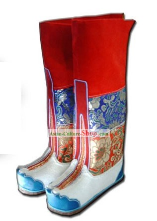Chinese Traditional Tibetan Pulu Boots