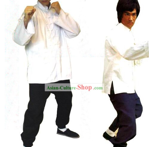 Chinese Traditional Bruce Lee Style Martial Arts Uniform Complete Set