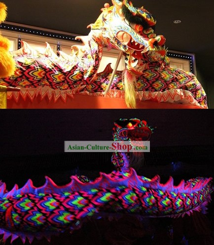 Glow in Dark Fluorescent Lumionous Dragon Dance Costume Complete Set