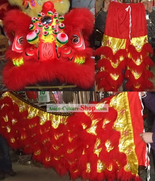 GLOW AT NIGHT Top Lion Dance Costume Complete Set