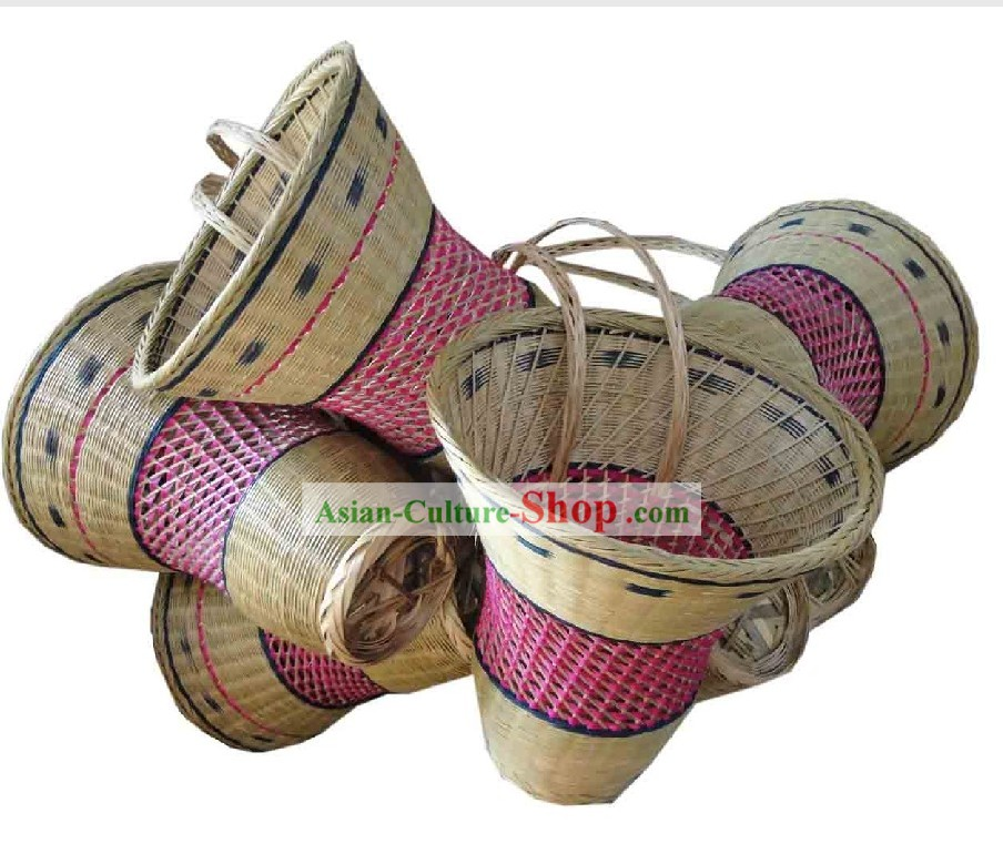 Chinese Traditional Dance Prop - Handmade Bamboo Basket