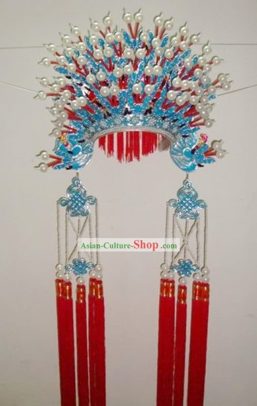 Chinese Traditional Handmade Mandarin Wedding Phoenix Coronet for Bride